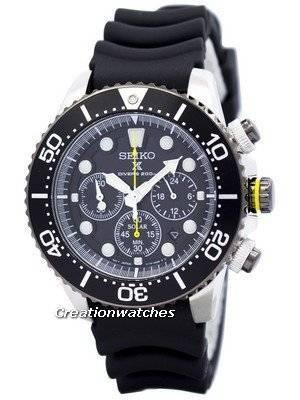 Seiko Solar Chronograph SSC021P1 SSC021P Mens Watch