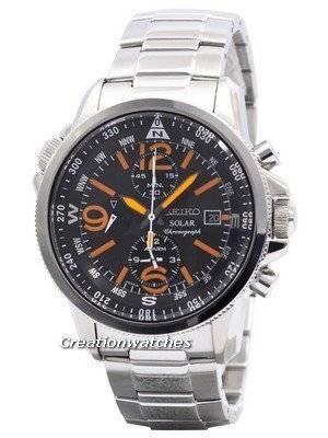 Seiko Solar Chronograph SSC077P1 SSC077P SSC077 Mens Watch
