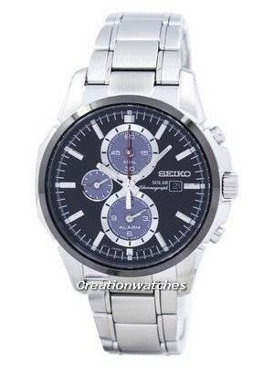 Seiko Solar Alarm Chronograph SSC087 SSC087P1 SSC087P Men\'s Watch