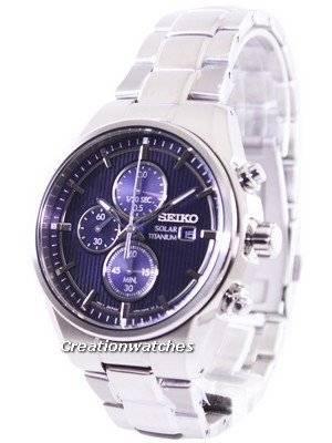 Seiko Solar Titanium Chronograph SSC365 SSC365P1 SSC365P Men's Watch