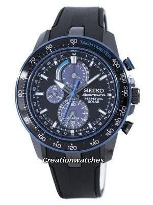 Seiko Sportura Perpetual Solar Multi-Function SSC429 SSC429P1 SSC429P Men's Watch