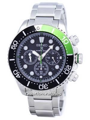 Seiko Prospex Diver's Solar Chronograph 200M SSC615 SSC615P1 SSC615P Men's Watch