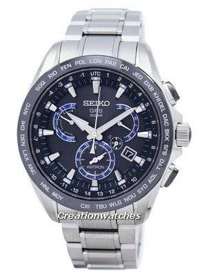 Seiko Astron GPS Solar Perpetual Calendar Power Reserve SSE101 SSE101J1 SSE101J Men's Watch