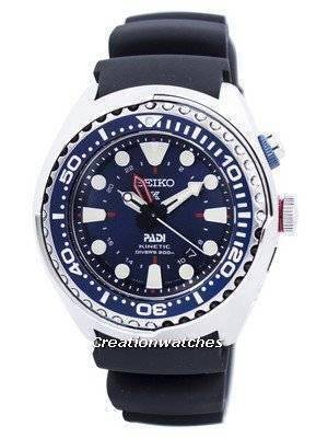 """Seiko Prospex Kinetic GMT Diver\'s \""""PADI\"""" Edition SUN065 SUN065P1 SUN065P Men\'s Watch"""