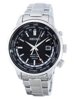 Seiko Kinetic World Time GMT SUN069 SUN069P1 SUN069P Men's Watch