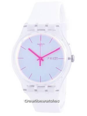 Swatch Polawhite White Dial Silicone Strap Quartz SUOK713 Men\'s Watch