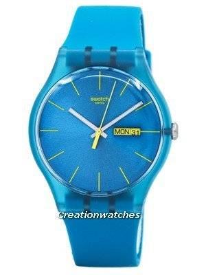 Swatch Originals Turquoise Rebel Quartz SUOL700 Unisex Watch