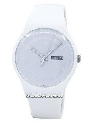 Swatch Originals White Rebel Quartz SUOW701 Unisex Watch