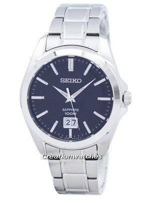 Seiko Quartz Sapphire Stainless Steel SUR009 SUR009P1 SUR009P Men\'s Watch