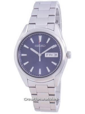 Relógio masculino Seiko Blue Dial Quartz SUR347 SUR347P1 SUR347P 100M