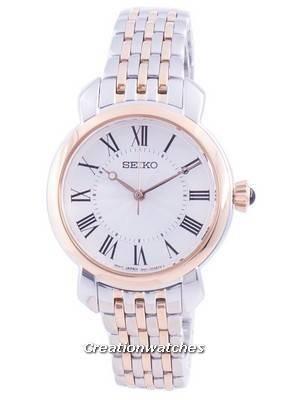 Relógio feminino Seiko Descubra mais Quartzo com mostrador branco SUR628 SUR628P1 SUR628P