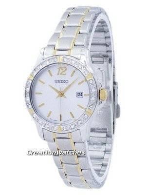 Seiko Quartz Diamond Accent SUR718 SUR718P1 SUR718P Women's Watch