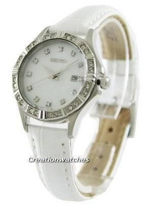 Seiko Quartz Swarovski Crystal SXDF11P2 Women's Watch