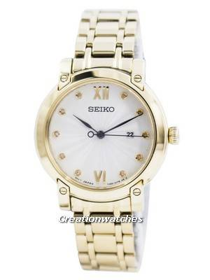 Seiko Quartz Diamond Accent SXDG80 SXDG80P1 SXDG80P Women's Watch
