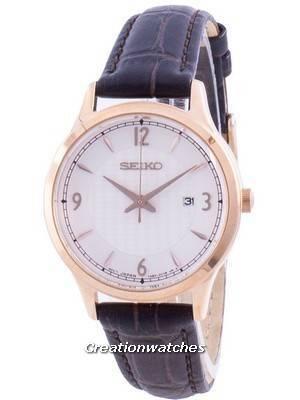 Seiko Neo Classic Calf Leather Quartz SXDG98 SXDG98P1 SXDG98P 100M Women\'s Watch