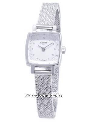 Tissot T-Lady Praça Encantadora T058.109.11.036.00 T0581091103600 Diamante Acentos Relógio de Quartzo para Mulher