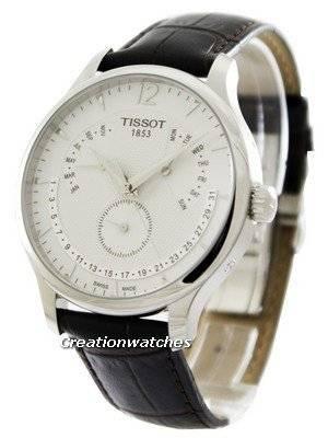 Calendário Perpétuo Tissot T-Classic Tradição T063.637.16.037.00 T0636371603700 Men's Watch