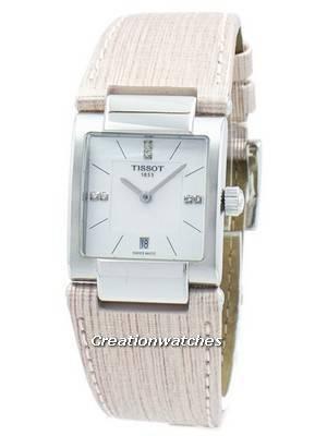 Tissot T-Lady T02 Sotaque de Diamante de Quartzo T090.310.16.116.00 T0903101611600 Mulher Relógio