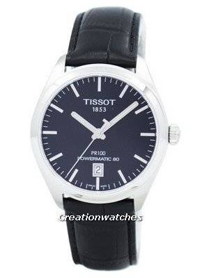 Tissot T-Classic PR 100 Powermatic 80 T101.407.16.051.00 T1014071605100 Men\'s Watch