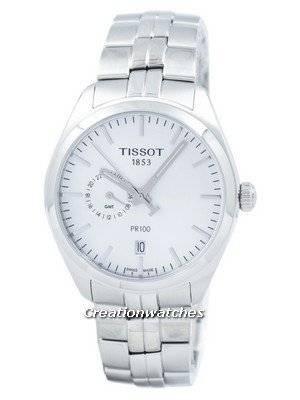 Tissot T-Classic PR 100 Dual Time Quartz T101.452.11.031.00 T1014521103100 Men's Watch
