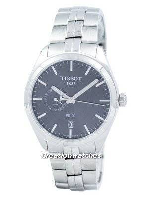 Relógio Tissot T-Clássico PR 100 Dual Time Quartzo T101.452.11.061.00 T1014521106100