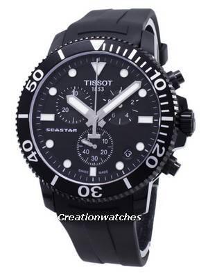 Tissot T-Sport Seastar 1000 T120.417.37.051.02 T1204173705102 Chronograph 300M Men's Watch
