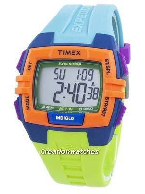 Timex Expedition Chronograph Alarm Indiglo Digital T49922 Unisex Watch