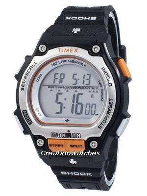 Timex Ironman Shock 30 Lap Alarm Indiglo Digital T5K582 Men's Watch