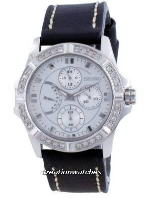 Refurbished Seiko Lord Quartz Chronograph Diamond Accents SRLZ99 SRLZ99P1 SRLZ99P Women\'s Watch