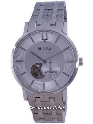 Refurbished Bulova Clipper Open Heart Automatic 96A238 Men\'s Watch