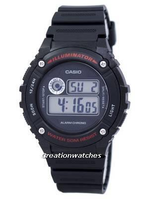 Casio Sports Iluminador Alarme Chrono Digital W-216H-1AV W216H-1AV Assista Men