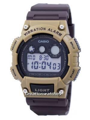 Casio Super Illuminator Vibration Alarm Digital W-735H-5AV W735H-5AV Men's Watch