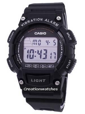Casio Youth Super Illuminator Vibration Alarm Digital W736H-1AV W-736H-1AV Men's Watch