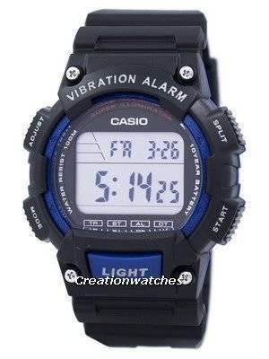 Casio Super Illuminator Dual Time Vibration Alarm Digital W-736H-2AV W736H-2AV Men's Watch