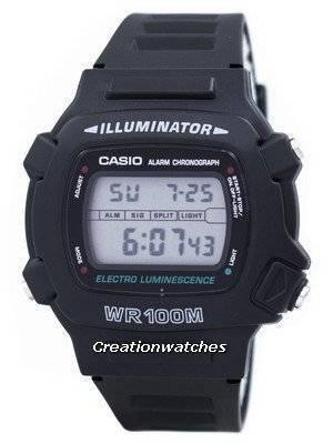 Casio Illuminator Electro Luminescence Chronograph Alarm W-740-1V W740-1V Men's Watch
