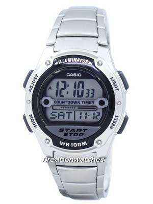 Casio Illuminator Countdown Timer Digital W-756D-1AV W756D-1AV Men's Watch
