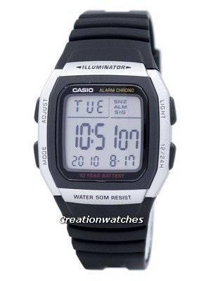 Casio Youth Digital Alarm Chrono Illuminator W-96H-1AVDF W96H-1AVDF Men's Watch