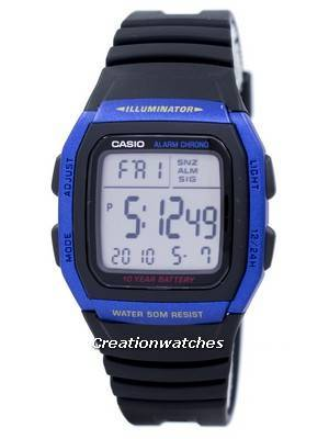 Casio Youth Series Illuminator Alarm Chronograph Digital W-96H-2AV W96H-2AV Men's Watch
