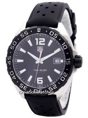 451b288f2f9a Tag Heuer Formula 1 Black Dial WAZ1110.FT8023 Men s Watch features a black  dial housing aesthetics and detailing synonymous to the Formula 1  collection
