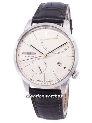 Zeppelin Series Flatline Power Reserve Germany Made 7366-5 73665 Men's Watch