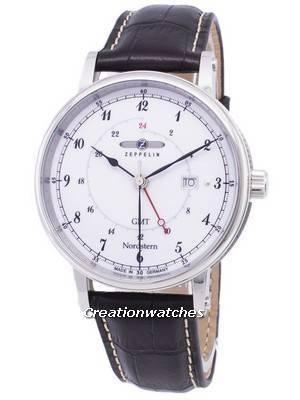 Zeppelin Series Nordstern GMT Germany Made 7546-1 75461 Men's Watch