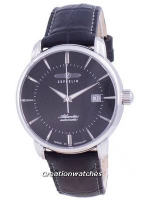 Zeppelin Atlantic Black Dial Automatic 8452-2 84522 Men\'s Watch